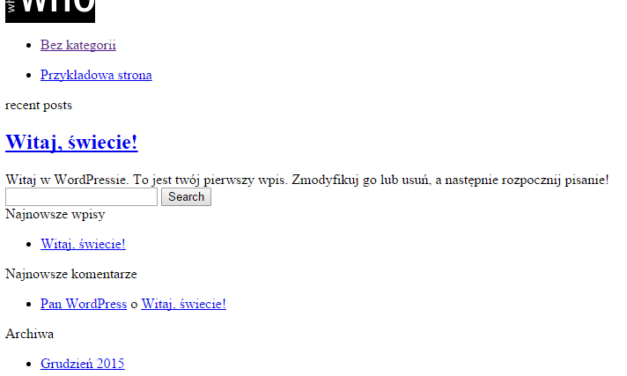 Problem z wyświetlaniem strony na szablonie WhosWho tuż po instalacji.