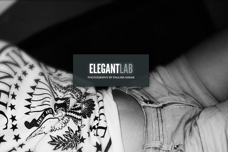 Portfolio pełnej szerokości w szablonie Gleam od Elegant Themes.