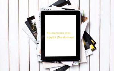 Ustawienia tłumaczenia szablonu Divi a język witryny WP.