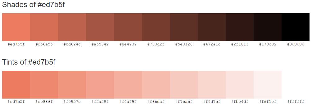colorhex odcienie