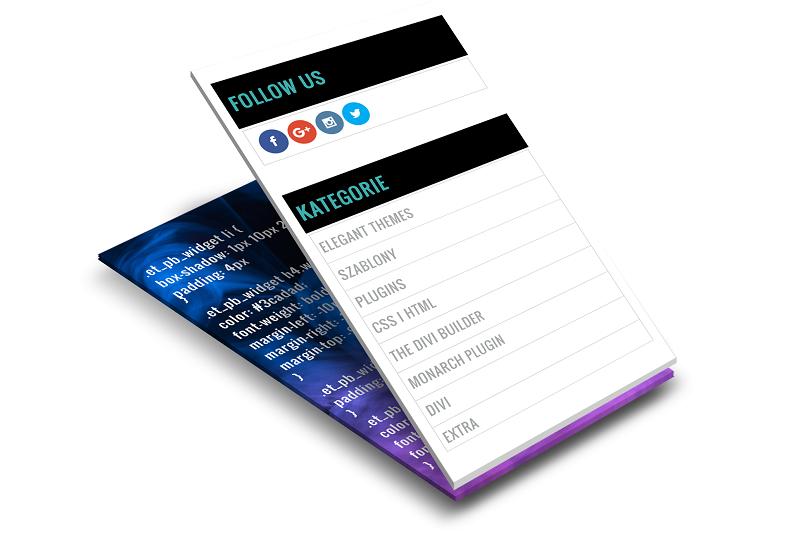 Divi: jak zmienić wygląd sidebaru, aby przypominał sidebar Extra?