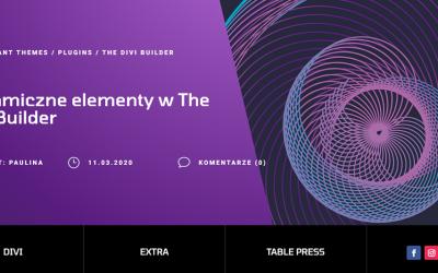 Dynamiczne elementy w The Divi Builder